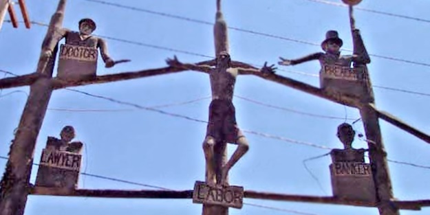 """""""Crucifixion of labor"""" by Samuel Dinsmoor"""