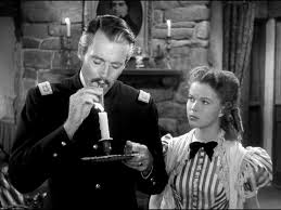 """Henry Fonda and Shirley Temple in """"Fort Apache"""""""