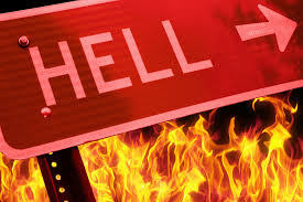 Road sign to hell