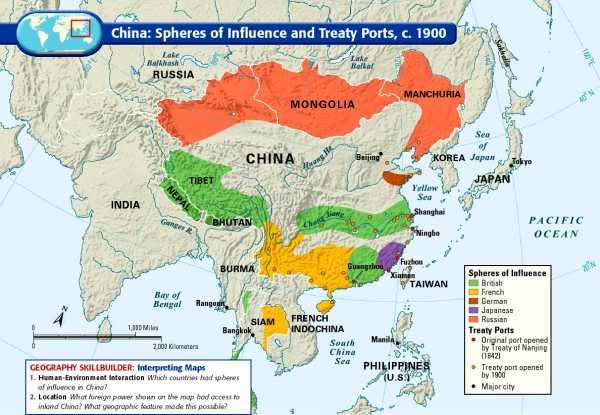 Spheres of influence in China