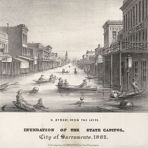 Inundation of Sacramento in 1862
