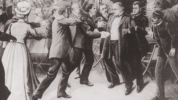 Painting of McKinnley's assassination.