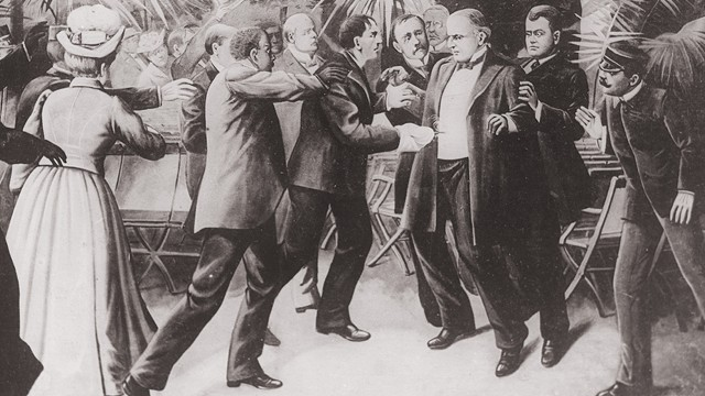 Painting of McKinnley's assassination.