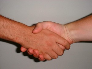 Hand shake in alliance