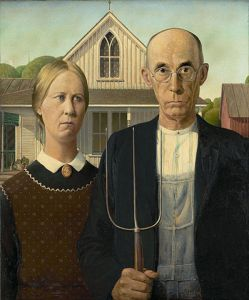 """""""American Gothic"""" by Grant Wood"""