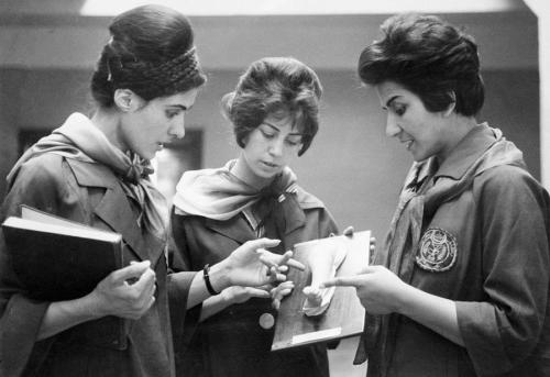 Women at the Kabul Medical School in 1962 - Afghanistan