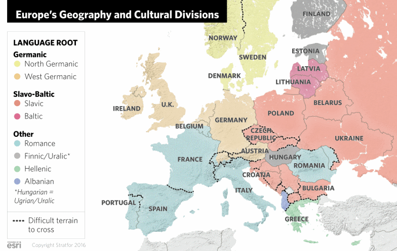 Europe's geography and cultural divisions