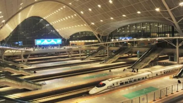 New railroad station in Wuhan