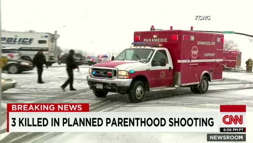 CNN: 3 killed at Planned Parenthood