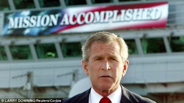 """Mission Accomplished"" in Iraq."